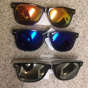 Other - Never worn! 3 pairs two tone retro sunglasses